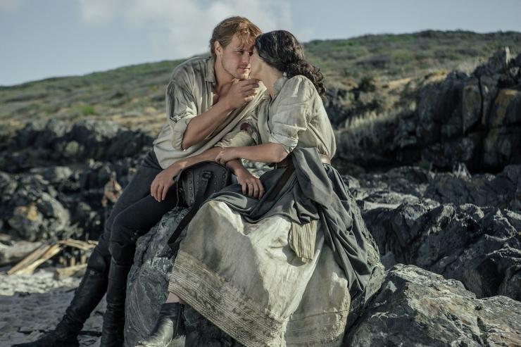 Sam Heughan (Jamie Fraser), Caitriona Balfe (Claire Randall Fraser)- Outlander 311