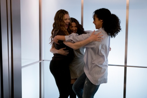 THE BOLD TYPE: Meghann Fahy, Katie Stevens, Aisha Dee Photo: Freeform/Phillippe Bosse)