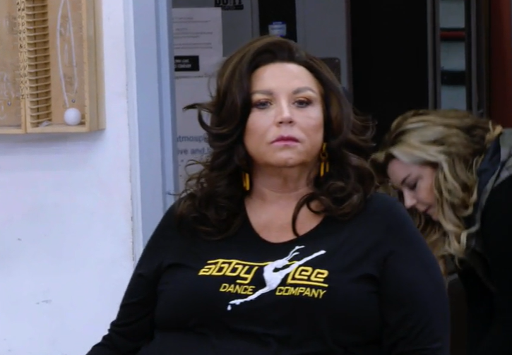 Despite a win, queen Abby Lee Miller surveyed her subjects with disdain at the beginning of Dance Moms 8x02.
